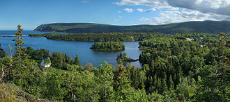 Cape Breton Highlands National Park - Panorama from the Freshwater Lake Lookoff