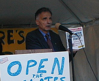 2000 United States presidential election - Ralph Nader Founder of Public Citizen and progressive activist (campaign)
