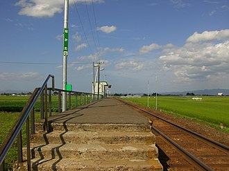 Nakata Station - Nakata Station platform in August 2007