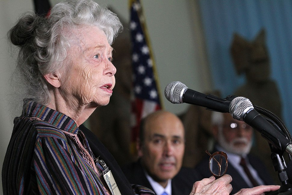Nancy Dupree speaking in 2012
