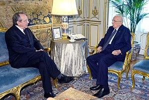Pier Carlo Padoan - Pier Carlo Padoan with former President of Italy Giorgio Napolitano.