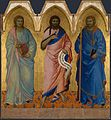 Nardo di Cione. Three Saints. c.1365, London NG.jpg