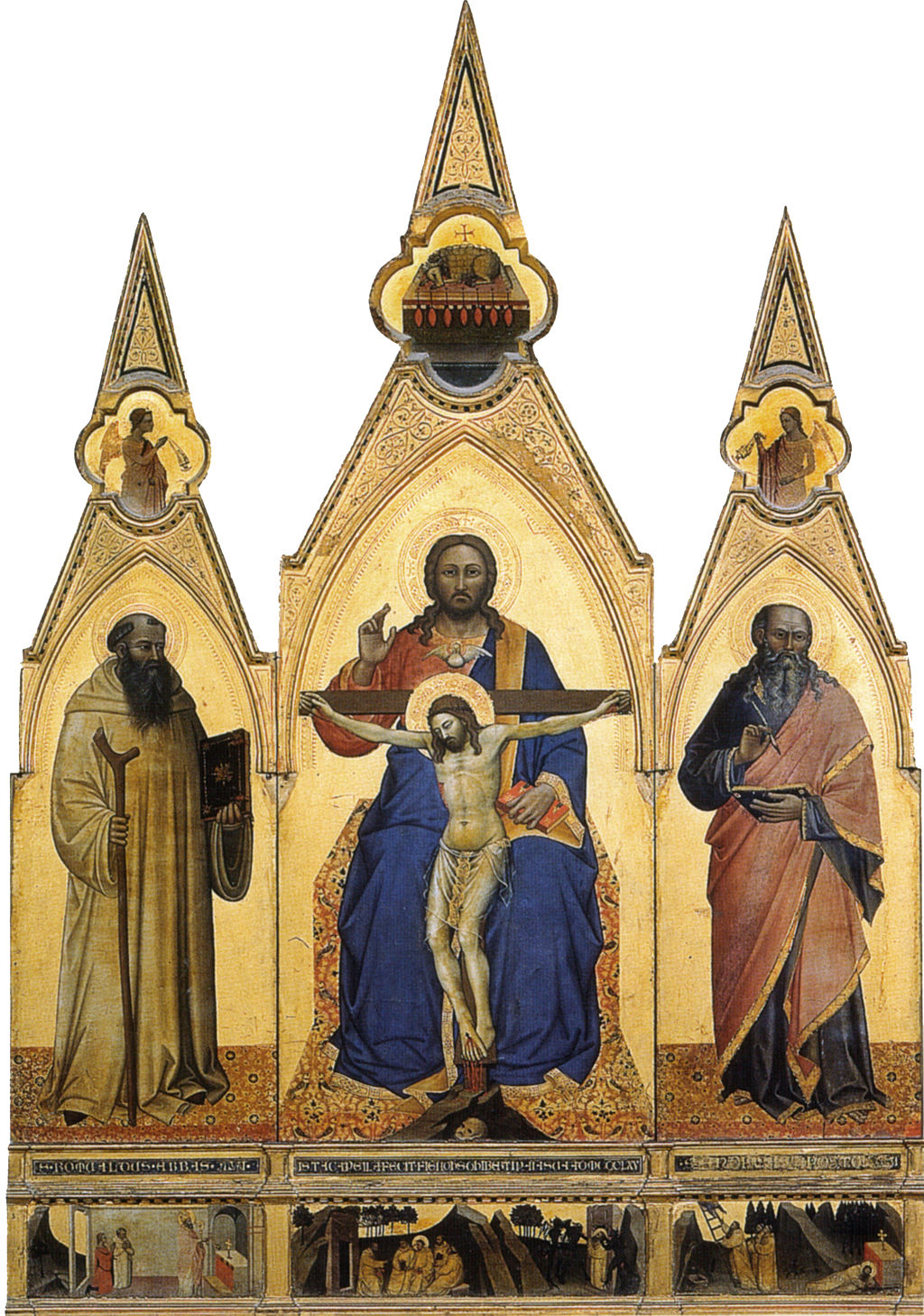 Nardo di Cione, Trittico del Thronum Gratiae, 1365, tempera e oro su tavola, Galleria dell'Accademia, Firenze