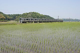 Narita Line railway line in Chiba prefecture, Japan