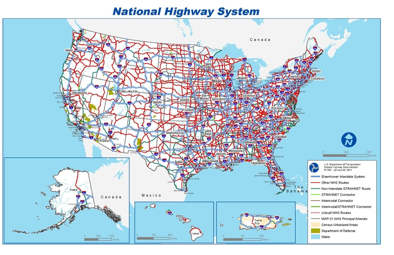 file national highway system map pdf