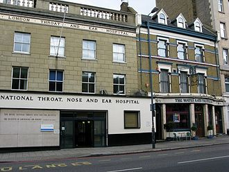 Otorhinolaryngology - Royal National Throat, Nose and Ear Hospital founded in 1874, in London