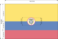 Naval flag of Colombia (construction sheet).png