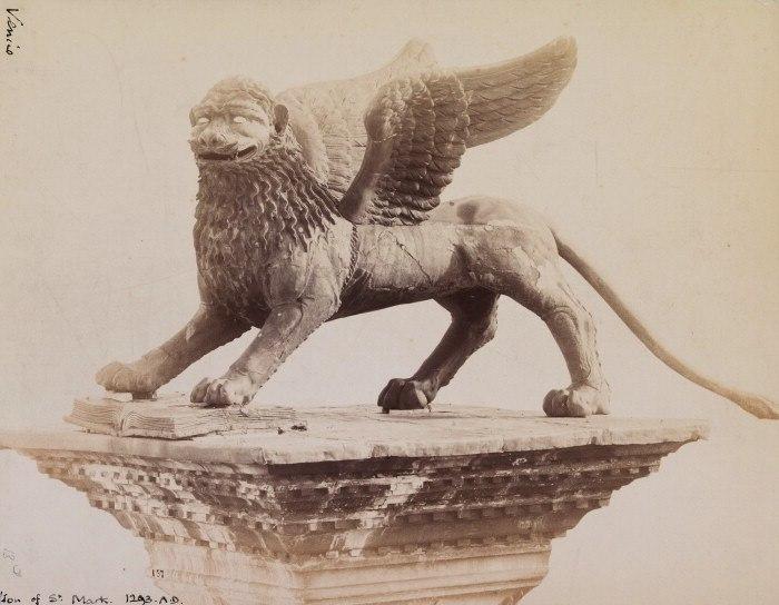 Naya, Carlo (1816-1882) - n. 157 - Venezia - Leone in Piazza san Marco