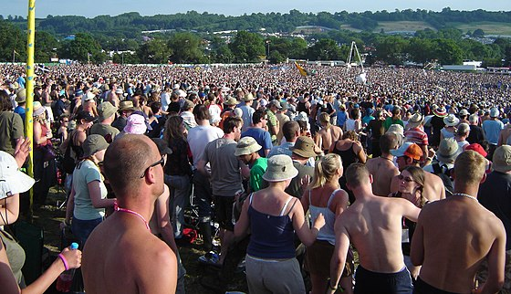 Glastonbury Festival, England, 2005 Nearly packed at the Pyramid (323799415).jpg