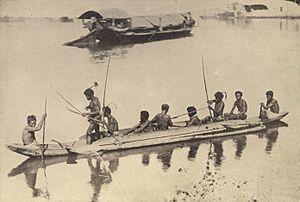 Bowfishing - Image: Negrito outrigger