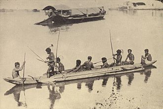 Bowfishing - The Filipino Negritos traditionally used bows and arrows to shoot fish in clear water.