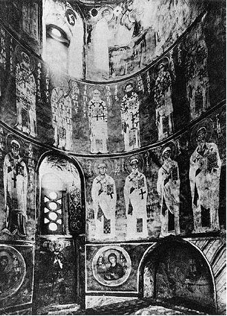 Nereditsa Church - The interior was frescoed in 1199