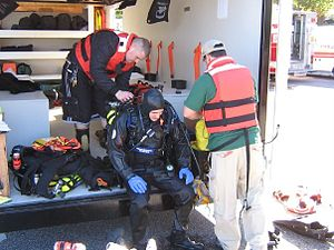 Underwater search and recovery - Preparing a public safety diver for the water