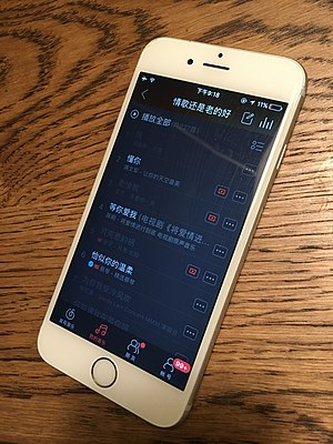 NetEase Music - Overseas users now see grey titles.
