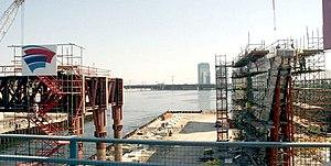 Al Garhoud Bridge - Image: New Al Garhoud Bridge Under Construction on 31 January 2007 Pict 5