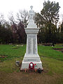 New Bradwell War Memorial - Figure of infantry soldier on top of memorial 04.jpg