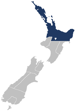 Auckland Province within New Zealand