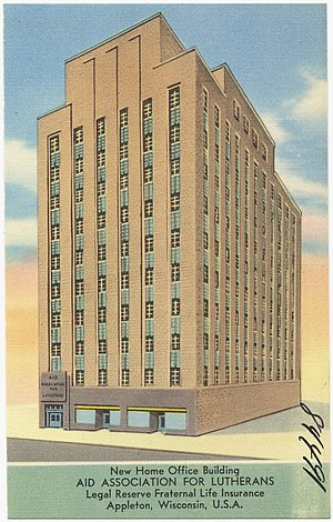 Thrivent Financial - Head Office of the Aid Association for Lutherans, circa 1930-1945.