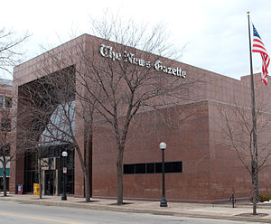 The News-Gazette (Champaign-Urbana) - The News Gazette building in Champaign, Illinois
