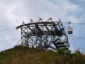 Ngong Ping 360 - Tower 3 and a Crystal Cabin