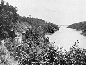 Niagara Gorge Railroad - Image: Niagara Gorge Railroad upper end of gorge (1900)