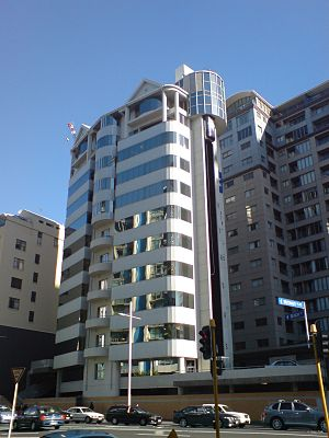 An apartment building in the Auckland CBD in A...
