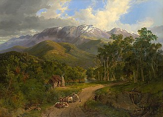 Nicholas Chevalier - Chevalier's 1864 painting The Buffalo Ranges was the first painting of an Australian subject added to the National Gallery of Victoria's art collection