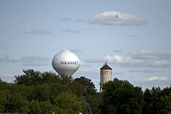 Nicollet's old and new water towers