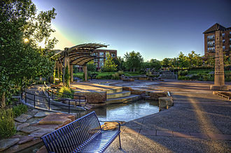 "Burnsville, Minnesota - Nicollet Commons Park  – Burnsville's ""Heart of the City"" project is a downtown development policy driven by smart growth."