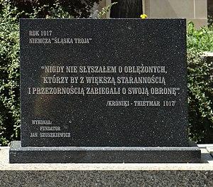 Siege of Niemcza - Memorial stone in Niemcza