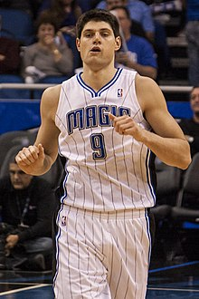 Nikola Vucevic Washington at Orlando 2012.jpg