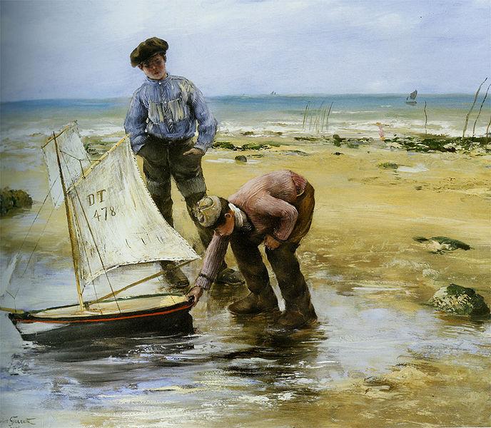 Datei:Norbert Gœneutte - Enfants jouant sur la plage.jpg