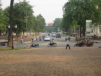 Norodom Boulevard - Norodom Boulevard viewed from Wat Phnom