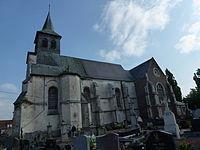 Norrent-Fontes (Pas-de-Calais, Fr) église Saint-Vaast extérieur.JPG