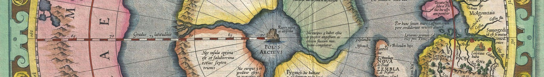 Gerard Mercator's map of the North Pole or Arctic
