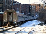 Northbound Vermonter leaving Brattleboro station, March 2015.JPG