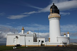 Noss Head Lighthouse lighthouse near Wick in Caithness in the Highland council area of Scotland