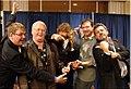 Nothin' Fancy with SPBGMA award trophy Nashville TN February 2009.jpg