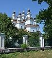 Novomoskovs'k Peremogy Ploscha 1 Troyits'kiy Sobor 04 (YDS 7037).jpg