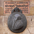 Nuremberg - Wenzel Jamnitzer House - here-was-born plaque.JPG