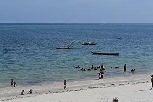 Nyali Beach from the Reef Hotel during high tide in Mombasa, Kenya 27.jpg