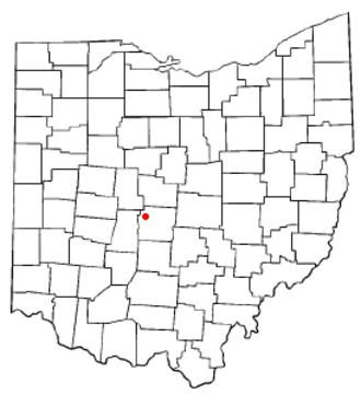 Hilliard, Ohio - Image: OH Map doton Hilliard
