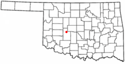 Location of Lookeba, Oklahoma