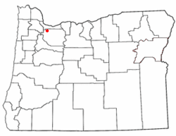 Location of Clackamas, Oregon