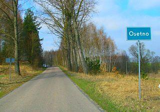 Osetno, Warmian-Masurian Voivodeship Village in Warmian-Masurian, Poland