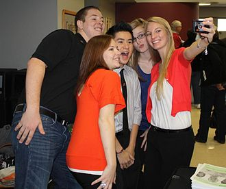 Oklahoma State University–Oklahoma City - OSU-OKC students get together for a quick picture during a scholarship luncheon.