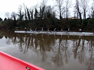 Oxford University Women's Boat Club - OUWBC in training at training camp, January 2012