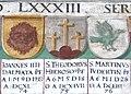 Obernzell Schloss - Festsaal Wappen Papst 4.jpg
