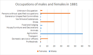 Layer Breton - Image: Occupation of Males and Females in 1881 , Layer Breton