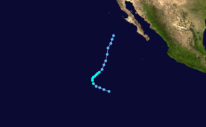Tropical Storm Octave (1983) - Image: Octave 1983 track